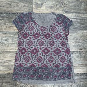 Lucky Brand women's t shirt with cute pattern